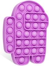 Push Pop Bubble Sensory Fidget Toy-Autism Special Needs Stress Reliever Silicone Stress Reliever Toy, Squeeze Fidget Sensory Toy for Kids, Family, and Friends (Among us-Purple)