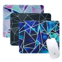 LIZIMANDU 3 Pack Mouse Pad with Stitched Edge,Computer Mouse Pad with Non-Slip Rubber Base,Mouse Pads for Computers Laptop Mouse 10.2 x 8.2 inch (3-Fragment, 3 Pack)