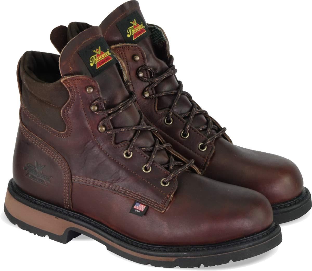 "Thorogood Men's American Heritage 6"" Classic Plain Toe, Safety Toe Boot"