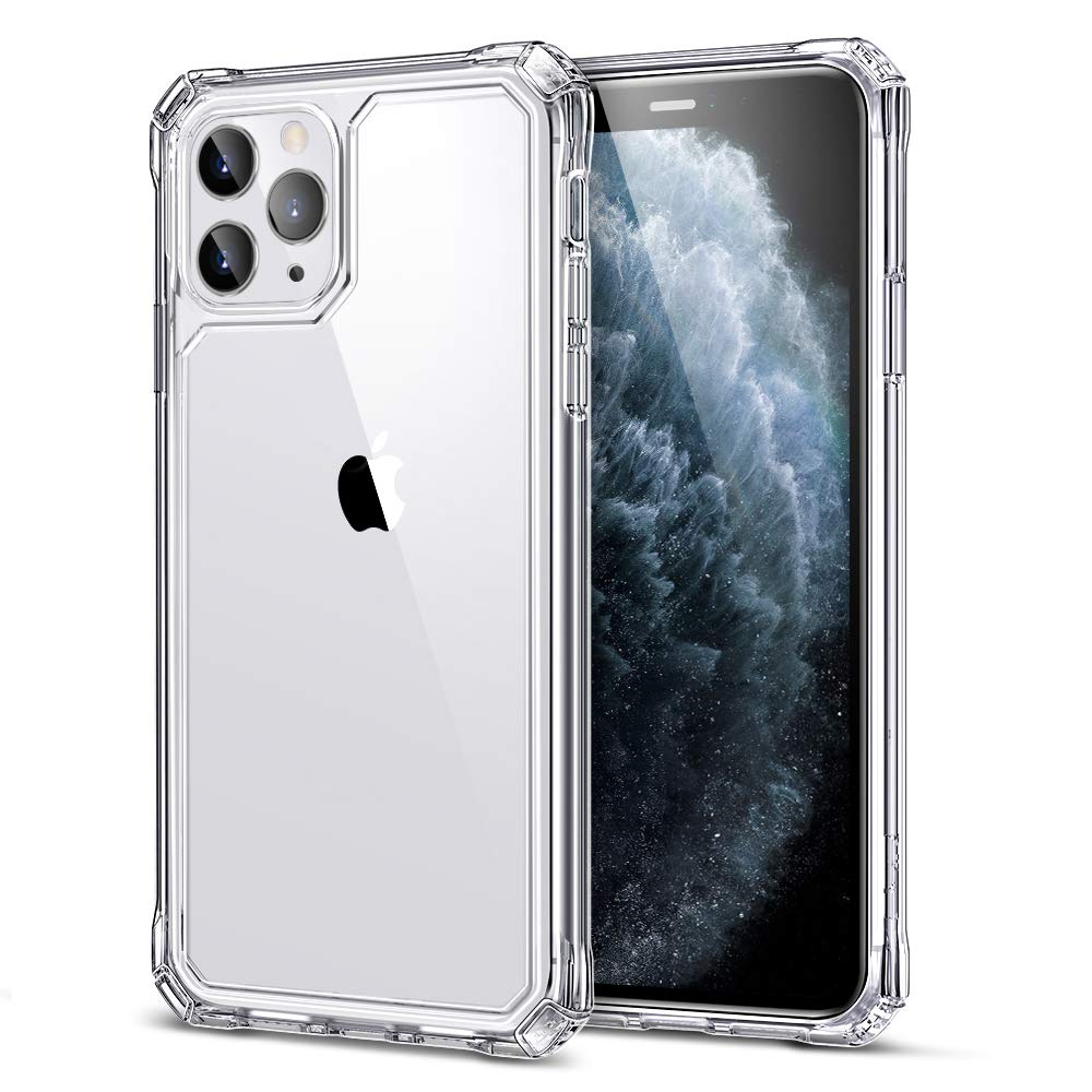 ESR Air Armor Case for iPhone 11 Pro Max Case, [Shock-Absorbing] [Scratch-Resistant] [Military Grade Protection] Hard PC + Flexible TPU Frame, for The iPhone 11 Pro Max (2019 Release), Clear