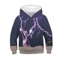 TENMET 4-13 Years Boy's Girl's Novelty 3D Galaxy Print Hoodies Pocket Pullover Sweatshirts