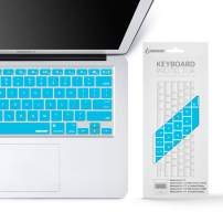 """iBenzer Macaron Series Keyboard Cover for MacBook Pro 13"""" 15"""" 17"""" (with or w/Out Retina Display) MacBook Air 13"""" and iMac Wireless Keyboard, Sky Blue, MKC01SBL"""