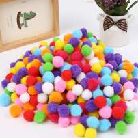 Pom Poms 500 PCS 1 Inch Assorted Pompoms Multicolor Arts and Crafts Fuzzy Pom Poms Balls for DIY Creative Crafts Decorations, Kids Craft Project, Home Party Holiday Decorations