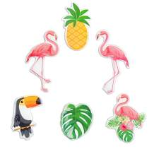 Fridge Magnets for Refridgerator Flamingo Decorative Cute 3D Pineapple Toucan Animal Decoration Office Lockers Funny Gifts for Kids Toddlers and Adults