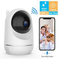 VIDEN WiFi IP Camera 1080P-Security Camera Pet/Dog/Elder/Baby Camera Monitor, with Night Vision/Motion Detection/Two-Way Audio, Works with Android/iOS[New 2019]