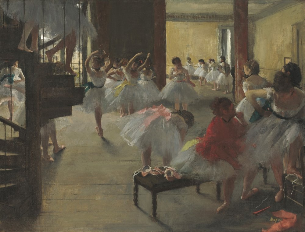 The Dance Class By Edgar Degas 1873 French Impressionist Painting Oil On Canvas Scene With Young Ballerinas At The Paris Opera House (Bsloc20165158) Poster Print (24 x 18)