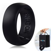 VOEONS Silicone Wedding Ring Set for Men Active Rubber Wedding Band