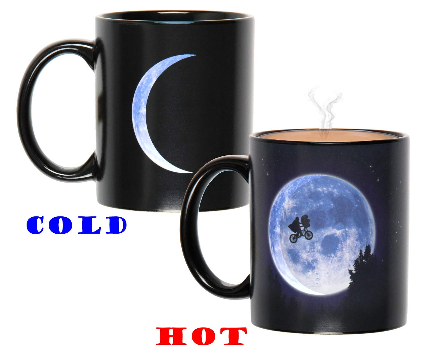 E.T The Extra-Terrestrial Moon Scene Heat Color Change Reactive Ceramic Coffee Mug