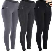 FITTIN Yoga Workout Leggings - Power Flex Pants for Fitness Running Sports Pack of 3 1X