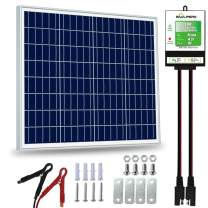 SOLPERK 50W Solar Panel,12V Solar Panel Charger Kit+8A Controller,Suitable for Automotive, Motorcycle, Boat, ATV, Marine, RV, Trailer, Powersports, Snowmobile etc. Various 12V Batteries.