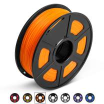 PLA 3D Printer Filament, 1.75mm PLA Filament 1KG Spool, Dimensional Accuracy +/- 0.02mm, Enotepad PLA Filament for Most 3D Printer/ 3D Pen, PLA Orange
