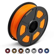PLA 3D Printer Filament, 1.75mm PLA Filament 1KG Spool, Dimensional Accuracy +/- 0.02mm, Enotepad PLA Filament for Most 3D Printer/ 3D Pen, PLA Orange