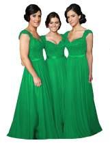 Fanciest Navy Blue Bridesmaid Dresses for Women Long Chiffon A Line Appliques Lace Formal Dress Maxi Prom Gowns