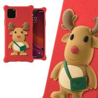 Bone Collection Silicone iPhone 11 Pro Max Case, Cute 3D Animal Cartoon Design Protective Case for iPhone 11 Pro Max, Phone Bubble Figure Series (Mr. Deer)