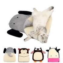 MYIDEA Sisal Plush Cat Scratch Pad - Handmade Hemp Resting Pad Mat for Cat or Kitten with Bells
