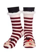 Missshorthair Womens Soft Socks Fuzzy Warm Winter Slipper Socks for Women Christmas