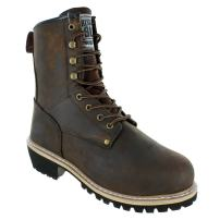 """Rugged Blue 8"""" Men's Pioneer II Insulated Logger Boot"""