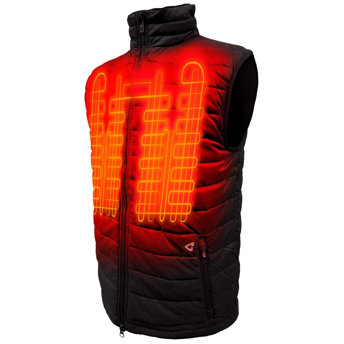 Gerbing Gyde 7V Khione Heated Vest for Men – Water Resistant Electric Puffer Vest for Winter Hiking Camping Motorcycle Riding– Sleeveless Heated Jacket with Battery Pack