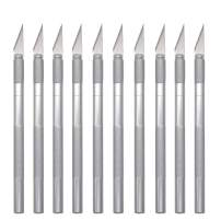 Souyos 10 Pcs Craft Knife Precision Cutting Hobby Knife,Professional Razor Sharp Pen Knife with Safety Cap for Art,Fabric,Thin Metal,Paper