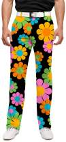 Loudmouth Golf-100% StretchTech Poly-Fun Brighy John Daly Magic Bus StretchTech Men's Pant