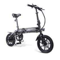 """WiLEES Adult Electric Bicycles 1 Speed 36V7.5AH 250W 14""""Solid Tire Folding Bike for Men Women Around The Block"""