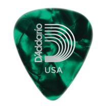 Planet Waves Green Pearl Celluloid Guitar Picks, 25 pack, Heavy