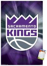 "Trends International NBA Sacramento Kings - Logo 16 Wall Poster, 22.375"" x 34"", Premium Poster & Mount Bundle"