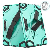 VORI iPad Mini 5 Case 2019, (Kickstand/Hand Strap 2-in-1) Heavy Duty Shockproof Impact Resistant Soft TPU Protective Rugged Stand Cover for iPad Mini 5th Generation 7.9 Inch, Mint Green
