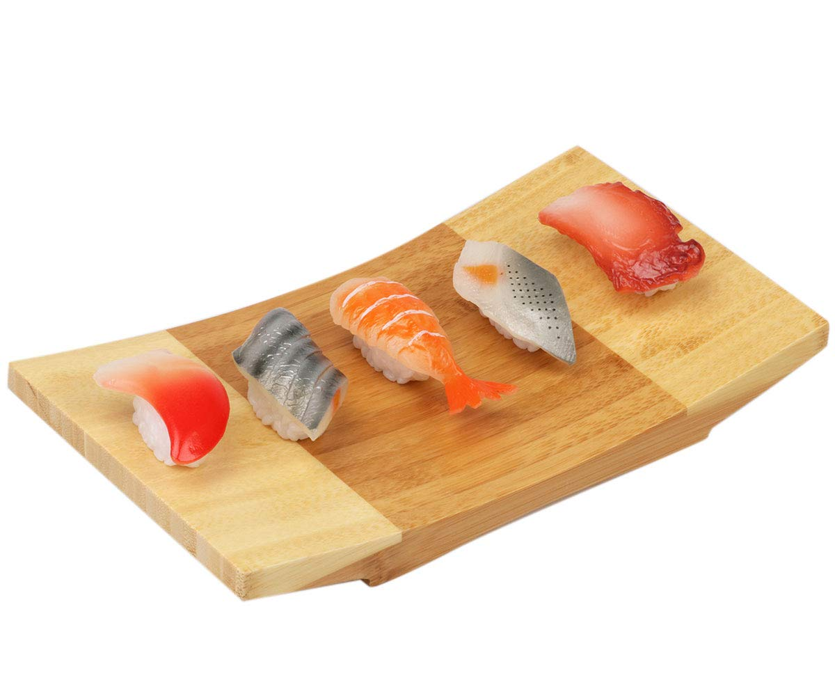 Sushi Plate Board Bamboo Japanese Style Tableware Serving Tray for Food (9.8)