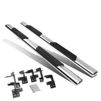 """5"""" Chrome Oval Tubing Side Step Nerf Bar Running Board Replacement for Ram 1500 Quad Cab 19-20"""