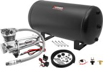 Vixen Air Suspension Kit for Truck/Car Bag/Air Ride/Spring. On Board System- 200psi Compressor, 6 Gallon Tank. for Boat Lift,Towing,Lowering,Leveling Bags,Onboard Train Horn,Semi/SUV VXO4863C