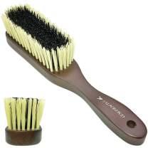 SUNBIRD & 60E Clothing Brush, Wooden Nylon Clothes Cashmere Clothing Care Brush And Furniture To Remove Lint, Dust,Hat Brush, Pet Velvet Brush,Black And White Soft Pure Brush,1.1 Inch
