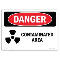 OSHA Danger Sign - Contaminated Area | Aluminum Sign | Protect Your Business, Construction Site, Warehouse & Shop Area | Made in The USA