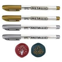 Wax Seal Pen Kit, Yoption 4 Pieces Metallic Pen for Decorating Sealing Stamp Wedding Invation Seals