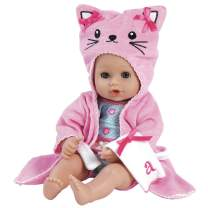 """Adora BathTime Baby """"Kitty"""" - 13 Inch Baby Doll For Water Play. Quick Dry & Machine Washable. Perfect Bath Toys for 1 Year Old and Over"""