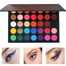 Beauty Glazed 35 Colors Eyeshadow Palette Matte and Shimmer Waterproof Long-Lasting Eye Shadow Powder Highly Pigmented Nature Warm Smoky Colour Neutral Tone Cosmetics Palette Pigment Eye shadow
