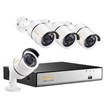 Anlapus H.265+ POE Security Camera System, 8 Channel 5MP NVR Recorder and 4PCS 2MP Outdoor/Indoor POE IP Cameras with 78ft Night Vision, Remote Access(No Hard Drive)