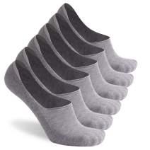 No Show Cushion Socks, Gmall Men's Sports Cotton Thick Low Cut Athletic Non Slip Socks, 3/6 Pairs