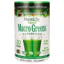 MacroLife Naturals Macro Greens Superfood – Organic - Vegan - Non-GMO - 38 Nutrient-Rich Ingredients - 10z - 30 Servings