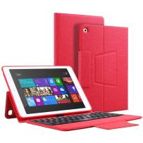iPad Keyboard Case 9.7 Inch for iPad 6th Generation 2018, iPad 5th Gen 2017, iPad Air 2 and Air 1, with Pencil Holder & 7 Color Backlit, Auto Wake/Sleep, Red