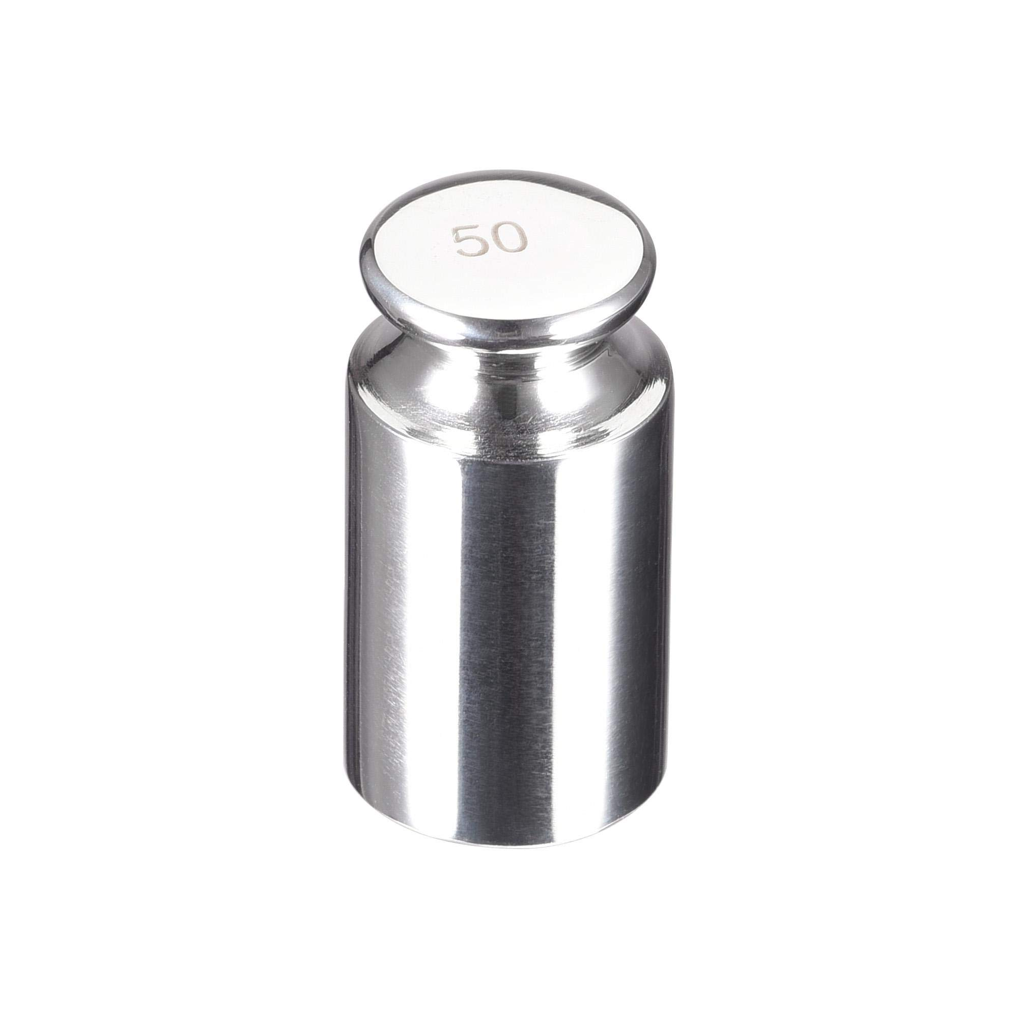 uxcell Gram Calibration Weight 50g F1 Precision Stainless Steel for Digital Balance Scales