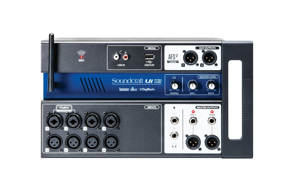 Soundcraft Ui12 Remote-Controlled 12-Input Digital Mixer