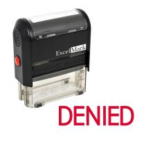 ExcelMark Self-Inking Rubber Stamp - Denied - Red Ink