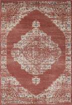 """Abani Rugs Babylon Collection Red & Beige Vintage Motif 7'9"""" x 10'2"""" Area Rug - Distressed Traditional Style Accent Rug"""