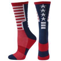 American Flag Socks, Gmark Women's Crazy Funny Chicken Legs/Stripe/Shark Socks Knee High&Mid-calf Gift Sock