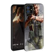 VANGOAL Creative Case for iPhone 11 Pro/Pro Max, Unique Designed Soldier with Rocket Launcher 9H Tempered Glass Back Cover with TPU Frame Protective Case for iPhone 11 (iPhone 11(6.1''),4#)