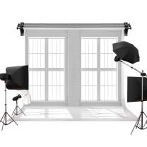 Kate 7x5ft/2.2m(W) x1.5m(H) Wood Backdrop White Brick Backgrounds Indoor Window Backdrop Photography Background Family Wedding Photo Studio