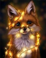5D Diamond Painting Kits for Adults DIY Rhinestone Diamond Art Kits for Beginners Fox Full Drill Round Crystal Animal Paint by Diamond Dotz Relaxation and Home Wall Decor 12 x 16 inch