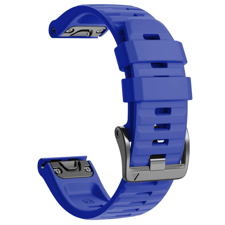Notocity Compatible with Fenix 6 Watchbands 22mm Band for Fenix 6/Fenix 6 Pro/Fenix 5/Fenix 5 Plus/Forerunner 935/Forerunner 945/Approach S60/Quatix 5(Royal Blue)