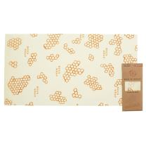 Bee's Wrap Reusable Baguette Wrap, Eco Friendly Reusable Beeswax Food Wrap, Sustainable, Zero Waste, Plastic Free Bread Keeper & Food Storage (Honeycomb Print)